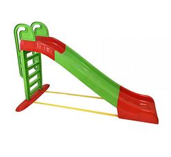 Горка для катания детей. Горка для катания, большая зелено-красная.