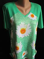 Летние футболки с красивыми цветами.