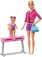 Оригинальный детский игровой набор Барби Тренер по гимнастике Barbie Gymnastics Coach Doll FXP39