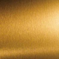 Пленка с эффектом шлифованного алюминий золото(глянец)