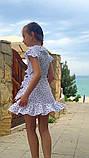 Летнее нарядное детское платье на запах,размеры:134,140,146,152., фото 5