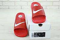 """Сланцы мужские резиновые Nike """"Красные"""" р. 41-45 найк, фото 1"""