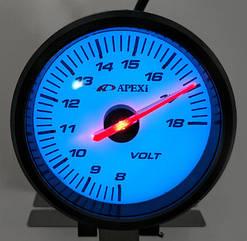 Вольтметр стрелочный APEXI 25601 черный Ø60мм врезной прибор датчик автомобильный