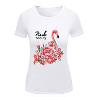 "Футболка женская S, M, L ""Фламинго. Красота в розовых тонах "", фото 1"