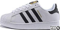 Мужские кроссовки Adidas Superstar ll WHITE BLACK GOLD 40