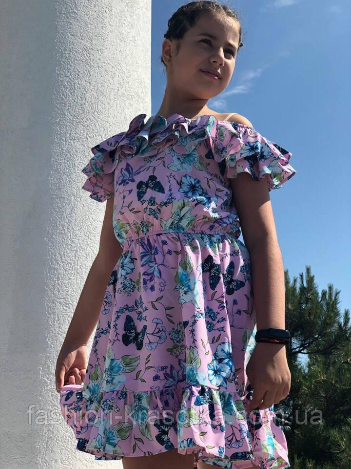 Легкое летнее детское платье,ткань супер софт,размеры:134,140,146,152.