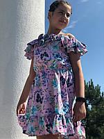 Легкое летнее детское платье,ткань супер софт,размеры:134,140,146,152., фото 1
