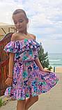 Легкое летнее детское платье,ткань супер софт,размеры:134,140,146,152., фото 2