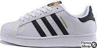 Женские кроссовки Adidas Superstar ll WHITE BLACK GOLD