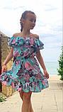 Легкое летнее детское платье,ткань супер софт,размеры:134,140,146,152., фото 3
