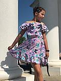Легкое летнее детское платье,ткань супер софт,размеры:134,140,146,152., фото 4