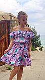Легкое летнее детское платье,ткань супер софт,размеры:134,140,146,152., фото 5