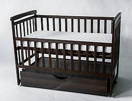 Кровать трансформер лодочка цвет венге с выдвижным ящиком Дитячий сон