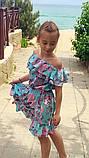 Легкое летнее детское платье,ткань супер софт,размеры:134,140,146,152., фото 6