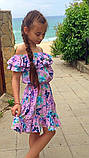 Легкое летнее детское платье,ткань супер софт,размеры:134,140,146,152., фото 8