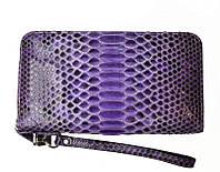 Женский кошелек из кожи Питона 20х10,5 см 2821a. PT 050 Violet, фото 1