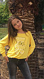 Модный детский свитшот,ткань трикотаж,размеры:134,140,146., фото 2