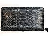 Кошелек женский из кожи Питона 20х10,5 см 2821a. PTWI 11 EX Black, фото 1