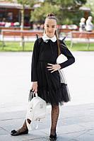 Платье школьное с сеткой