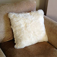 Подушка из овечьей шкуры, декоративные подушки из натуральной овчины на диван, подушечки из белой овчинки