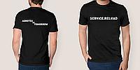 Печать логотипов на футболке