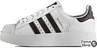 Женские кроссовки Adidas Superstar Bold W (Ftwr White / Core Black / Gold Metallic)