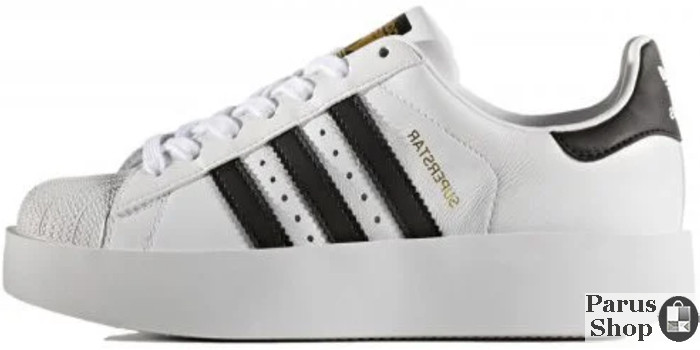 d4a49c534124 Женские кроссовки Adidas Superstar Bold W (Ftwr White / Core Black / Gold  Metallic)