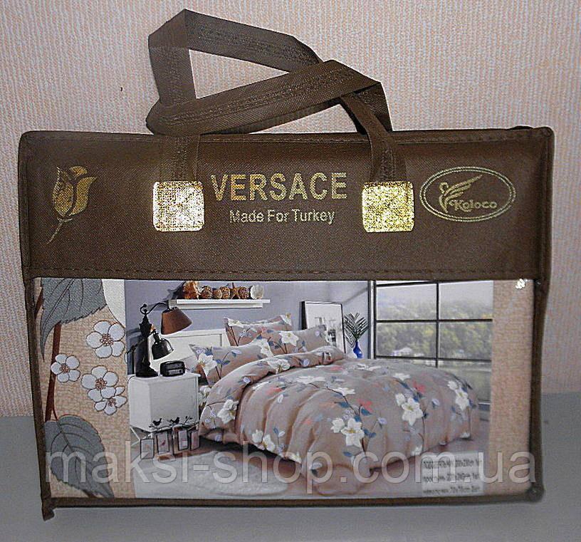 Постельное белье евро размер VERSACE плотный сатин (F-544)