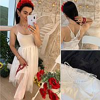 Женское стильный летний сарафан в греческом стиле и с аппликацией бабочкой на спине Скидка