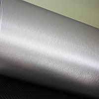 Пленка с эффектом шлифованного алюминий серебро(глянец)