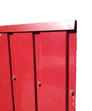 Торцевая верхняя планка, для ПС-10 цвет вишня, для забора из профнастила, 2 м, фото 2
