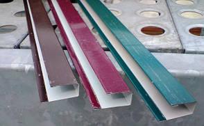 Торцевая верхняя планка, для ПС-10 цвет вишня, для забора из профнастила, 2 м, фото 3