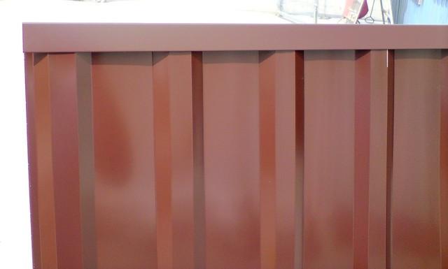 Торцевая верхняя планка, для ПС 10цвет шоколад, для забора из профнастила, 2 м