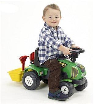Трактор каталка с прицепом Power Master Falk 1014A. Машинка детская