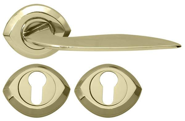 Дверная ручка RDA 0081 PBполированная латунь