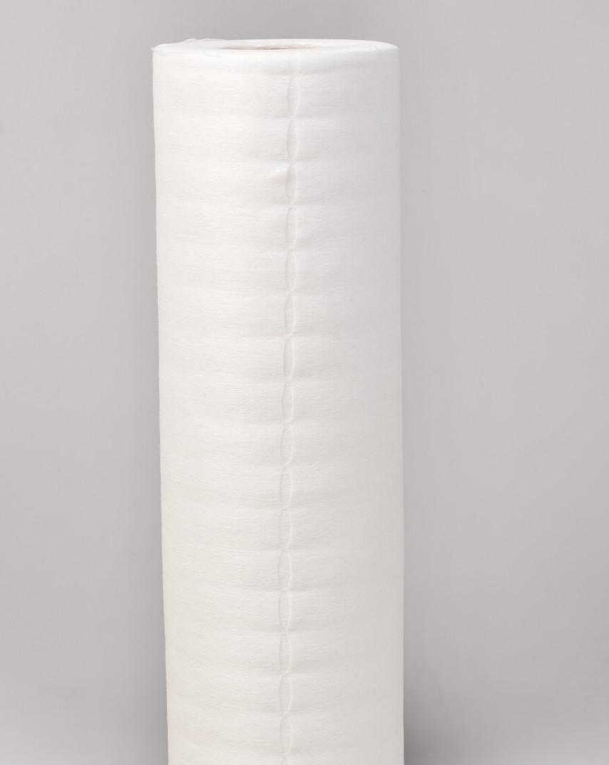 Серветки в рулоні одноразові 30х40см Polix PRO&MED (100 шт/рул) з спанлейса 40 г/м2 з перфорацією Гладкі