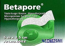 Пластырь Бетапор 5м*2,5см, н/ткан (6502)
