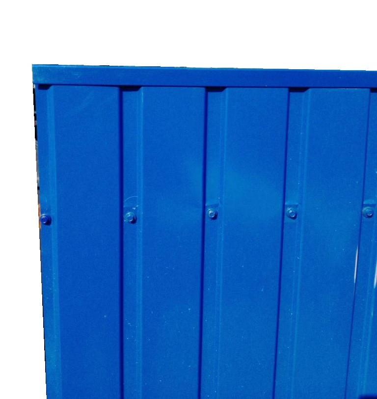 Торцевая верхняя планка, Для ПС-10 цвет синий, для забора из профнастила, 2 м