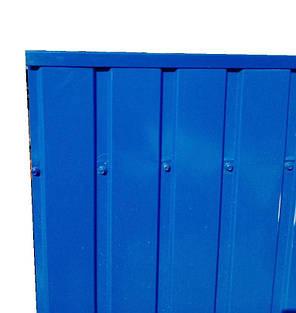 Торцевая верхняя планка, Для ПС-10 цвет синий, для забора из профнастила, 2 м, фото 2