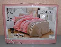 Комплект постельного белья полуторный мягкий Classic сатин (F-558)