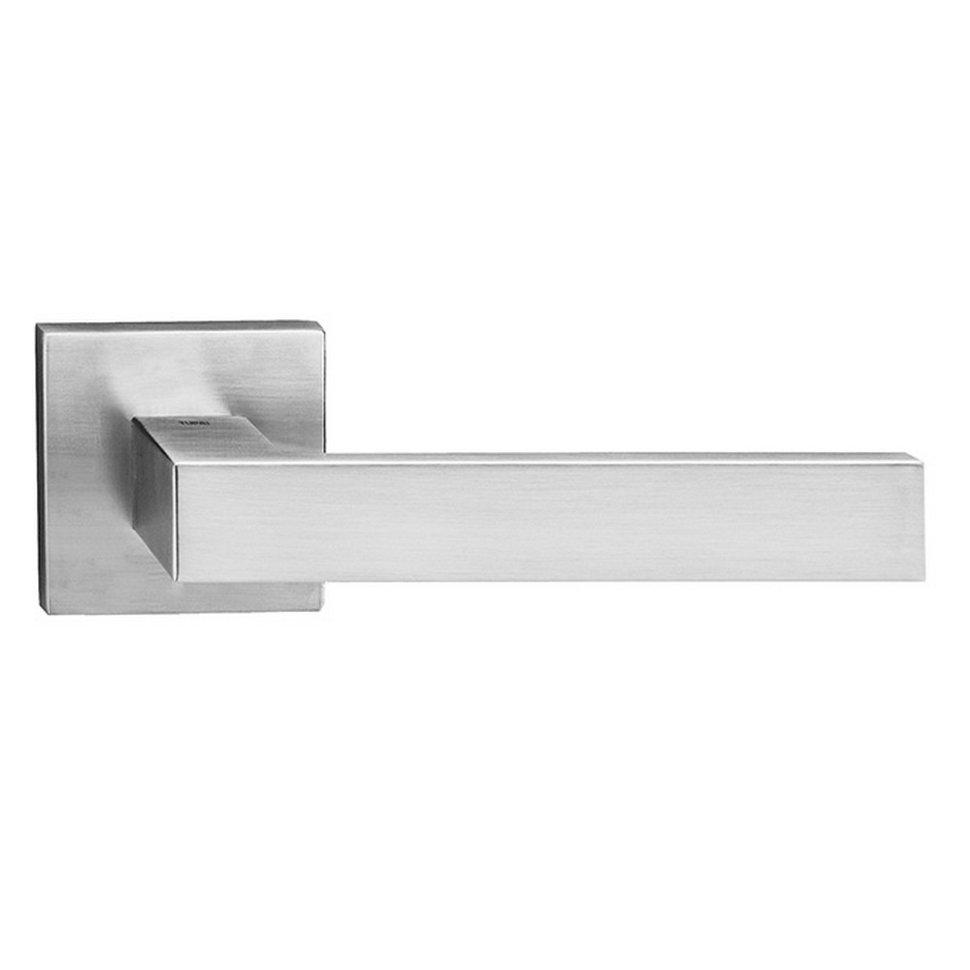 Дверная ручка Tupai Square Q 2275 5SQ-96 хром матовый R