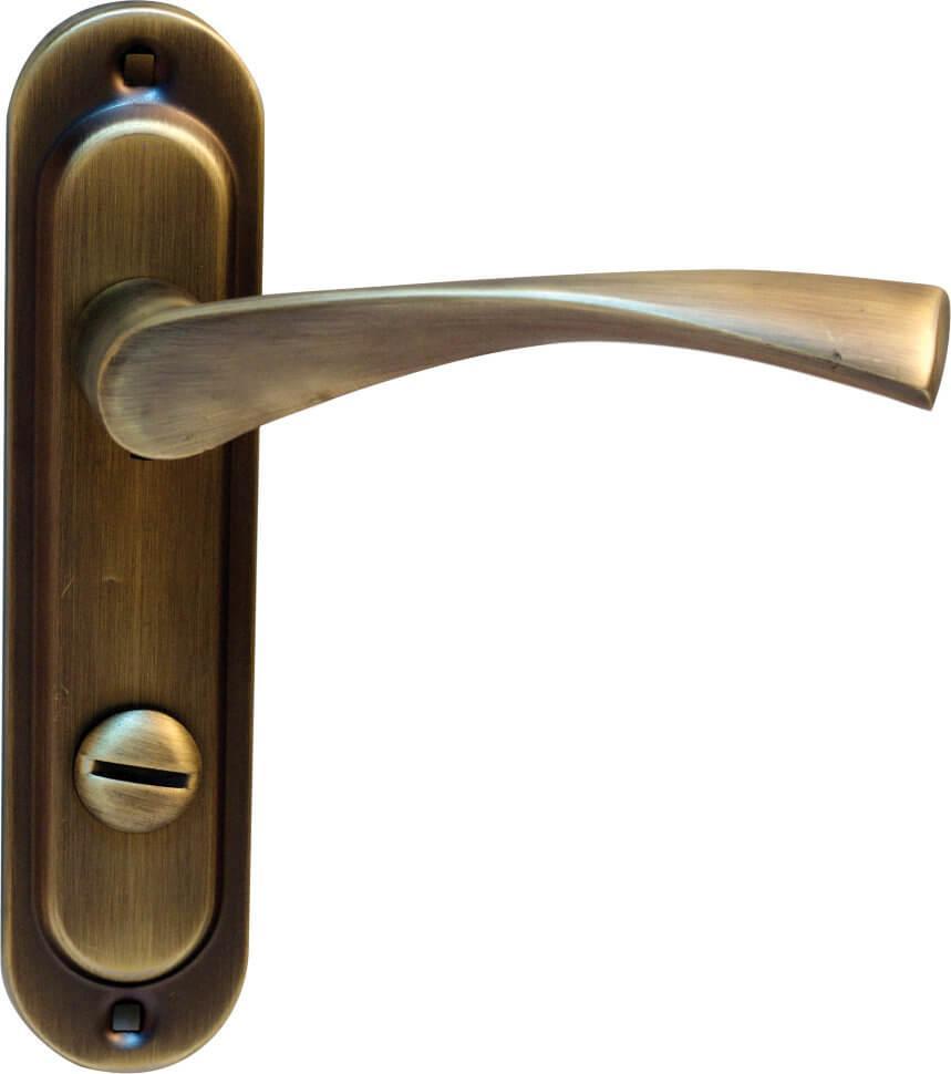 Ручка на планке BRUNO Bravo 162 WC матовая античная латунь к механизму 1251WС