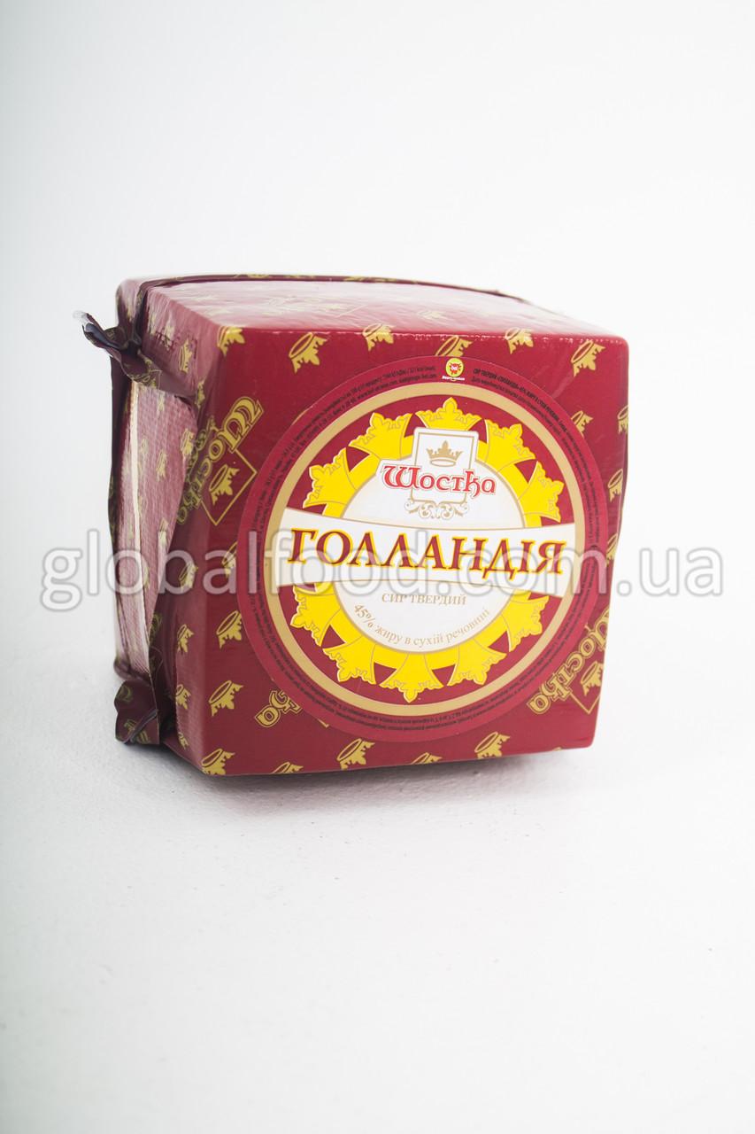 Сыр Голландия ТМ Шостка Bel (Holland) 45 % куб. 1шт/1.5кг
