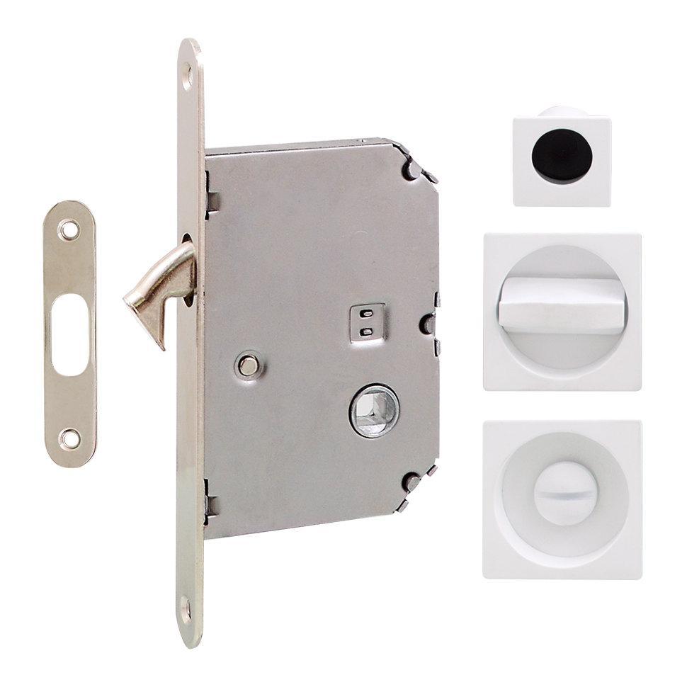 Ручка на раздвижную дверь Fimet 3667R матовый белый (комплект wc)