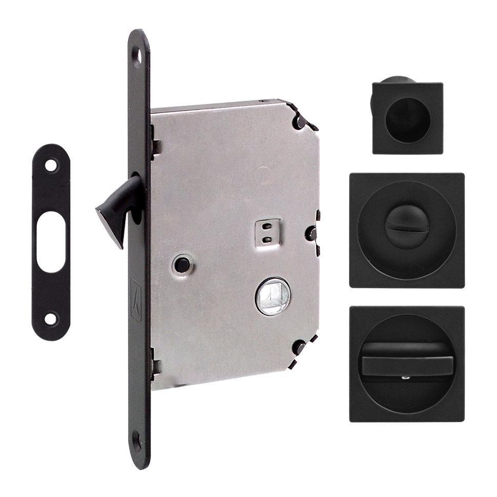 Ручка на розсувні двері Fimet 3667R матовий чорний (комплект wc)