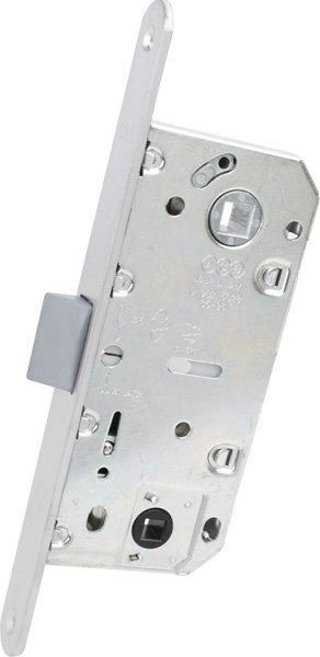 Защелка дверная AGB Mediana Evolution WC матовый хром