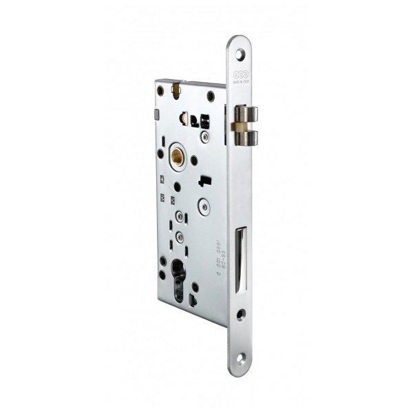 Защелка дверная AGB Opera DQ SL 22 мм никель