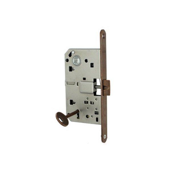 Защелка дверная AGB с ключом Mediana латунь
