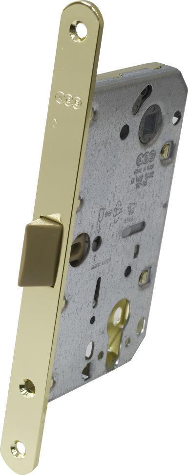 Засувка дверна AGB Mediana Evolution під циліндр латунь