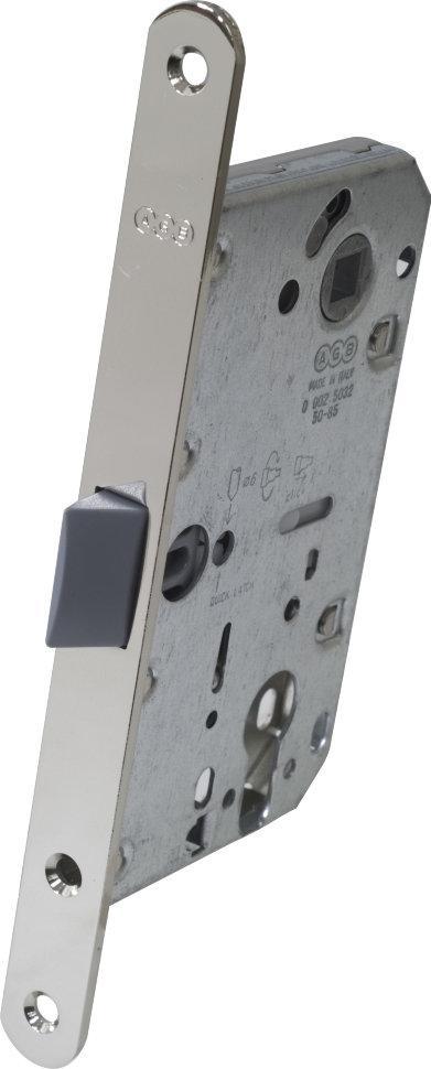 Защелка дверная AGB Mediana Evolution под цилиндр никель